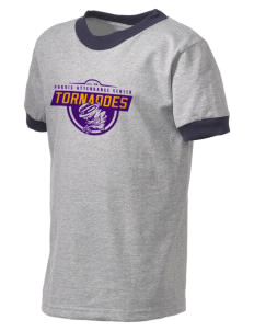 Purvis Attendance Center tornadoes Kid's Ringer T-Shirt