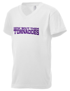 Purvis Attendance Center tornadoes Kid's V-Neck Jersey T-Shirt
