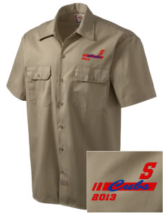 Sawnee Primary School Cubs Embroidered Dickies Men's Short-Sleeve Workshirt