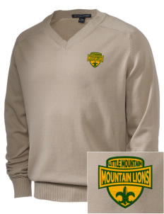 Little Mountain Elementary School Mountain Lions Embroidered Men's V-Neck Sweater