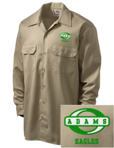 Adams Elementary School Eagles Embroidered Dickies Men's Long-Sleeve Workshirt