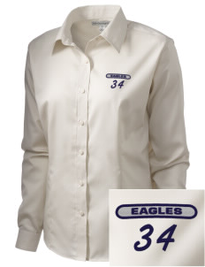 Calvary Oasis Christian School Eagles  Embroidered Women's Long Sleeve Non-Iron Twill Shirt