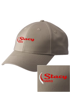 Stacy Middle School Hawks  Embroidered New Era Adjustable Structured Cap
