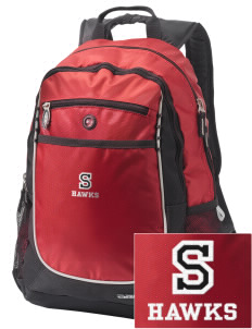 Stacy Middle School Hawks Embroidered OGIO Carbon Backpack