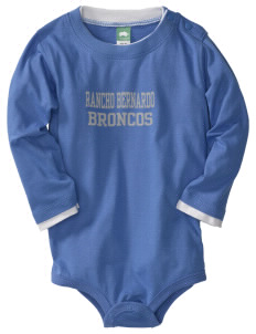 Rancho Bernardo High School Broncos  Baby Long Sleeve 1-Piece with Shoulder Snaps
