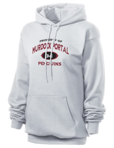 Murdock Portal Elementary School Penguins Unisex 7.8 oz Lightweight Hooded Sweatshirt