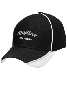 Skyline High School Spartans Embroidered New Era Contrast Piped Performance Cap