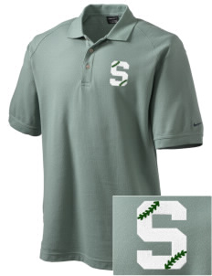 Skyline High School Spartans Embroidered Nike Men's Pique Knit Golf Polo