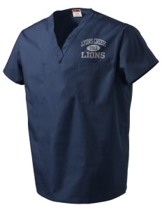Lyons Creek Middle School Lions V-Neck Scrub Top