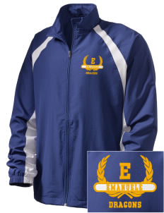 Emanuele Elementary School Dragons  Embroidered Men's Full Zip Warm Up Jacket