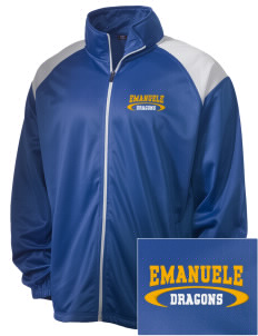 Emanuele Elementary School Dragons Embroidered Men's Tricot Track Jacket
