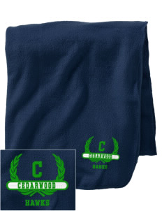 Cedarwood Elementary School Hawks Embroidered Holloway Stadium Fleece Blanket