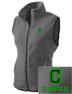 Cedarwood Elementary School Hawks Embroidered Women's Fleece Vest