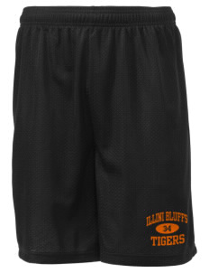 "Illini Bluffs Elementary School Tigers Men's Mesh Shorts, 7-1/2"" Inseam"