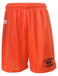 "Illini Bluffs Elementary School Tigers  Russell Men's Mesh Shorts, 7"" Inseam"