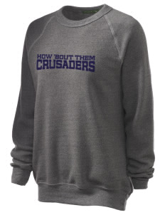 Bishop Heelan Catholic High School Crusaders Unisex Alternative Eco-Fleece Raglan Sweatshirt