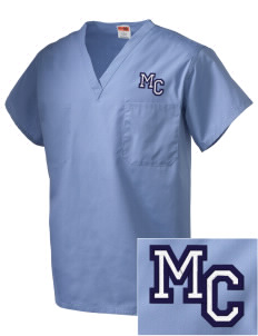 Midway Christian School Shields Embroidered V-Neck Scrub Top