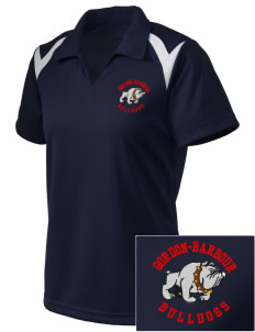 Gordon-Barbour Elementary School Bulldogs Embroidered Holloway Women's Laser Polo