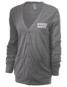 Wickes Elementary School Warriors Unisex 5.6 oz Triblend Cardigan