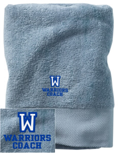 Wickes Elementary School Warriors Embroidered Zero Twist Resort Towel