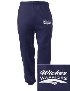 Wickes Elementary School Warriors Embroidered Men's Sweatpants with Pockets
