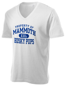 Mammoth Elementary School Husky Pups Alternative Men's 3.7 oz Basic V-Neck T-Shirt