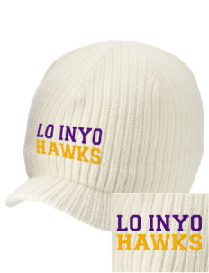 Lo Inyo Elementary School Hawks Embroidered Knit Beanie with Visor