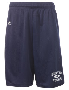 "Sierra Vista Middle School Vikings  Russell Deluxe Mesh Shorts, 10"" Inseam"