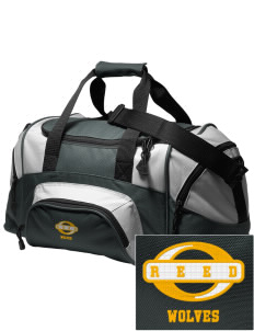 Reed Middle School Wolves Embroidered Small Colorblock Duffel