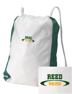 Reed Middle School Wolves Embroidered Holloway Home and Away Cinch Bag