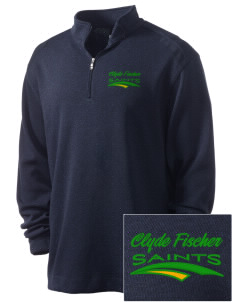 Clyde Fischer Middle School Saints Embroidered Nike Men's Golf Heather Cover Up