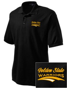 Golden State Middle School Warriors Embroidered Tall Men's Silk Touch Polo
