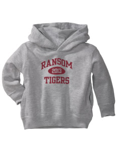 Ransom Middle School Tigers  Toddler Fleece Hooded Sweatshirt with Pockets