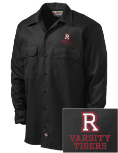 Ransom Middle School Tigers Embroidered Dickies Men's Long-Sleeve Workshirt
