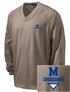 McCabe Elementary School Crusaders Embroidered adidas Men's ClimaProof V-Neck Wind Shirt