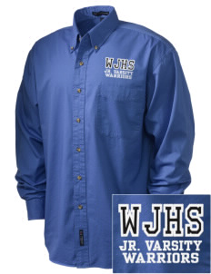 Wilson Junior High School Warriors Embroidered Tall Men's Twill Shirt