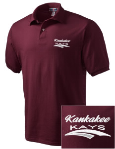Kankakee Junior High School Warriors Embroidered Men's Jersey Polo