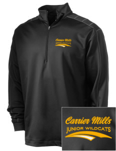 Carrier Mills Elementary School Junior Wildcats Embroidered Nike Men's Golf Dri-Fit 1/2 Zip