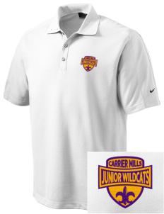 Carrier Mills Elementary School Junior Wildcats Embroidered Nike Men's Dri-FIT Pique II Golf Polo