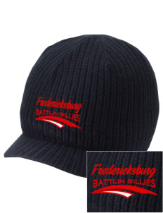 Fredericksburg Middle School Battlin Billies Embroidered Knit Beanie with Visor