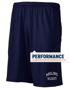 "Moline Elementary School Wildcats Holloway Men's Performance Shorts, 9"" Inseam"