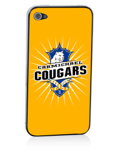 Carmichael School Cougars Apple iPhone 4/4S Skin