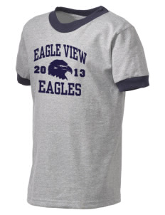 Eagle View Elementary School Eagles Kid's Ringer T-Shirt