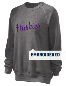 Washington Middle School Huskies Embroidered Unisex Alternative Eco-Fleece Raglan Sweatshirt