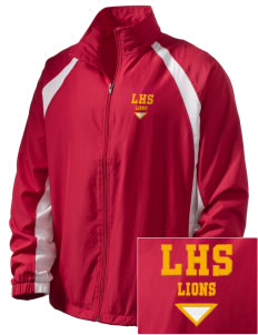 Liberty High School Lions  Embroidered Men's Full Zip Warm Up Jacket
