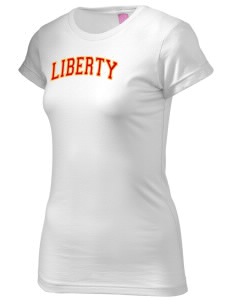 Liberty High School Lions  Juniors' Fine Jersey Longer Length T-Shirt