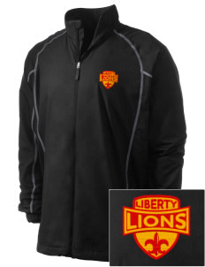 Liberty High School Lions Embroidered Men's Nike Golf Full Zip Wind Jacket