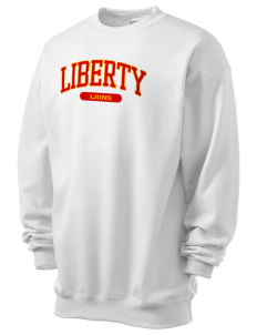 Liberty High School Lions Men's 7.8 oz Lightweight Crewneck Sweatshirt