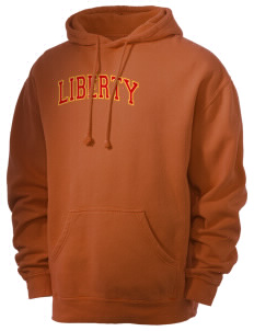 Liberty High School Lions Men's 80/20 Pigment Dyed Hooded Sweatshirt