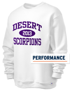 Desert High School Scorpions  Russell Men's Dri-Power Crewneck Sweatshirt